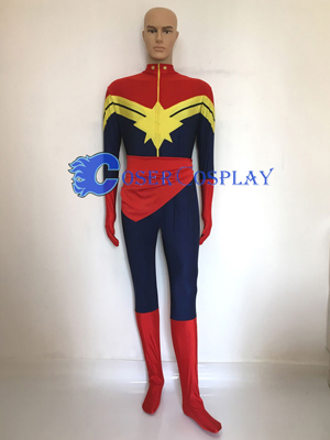 Customize Captain Marvel Cosplay Costume