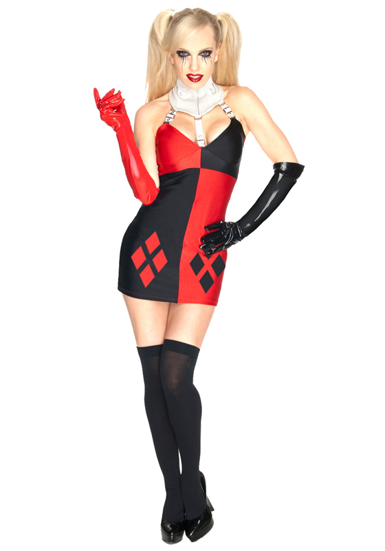 Harley Quinn Cosplay Costume Sexy Halloween Dress 15112092