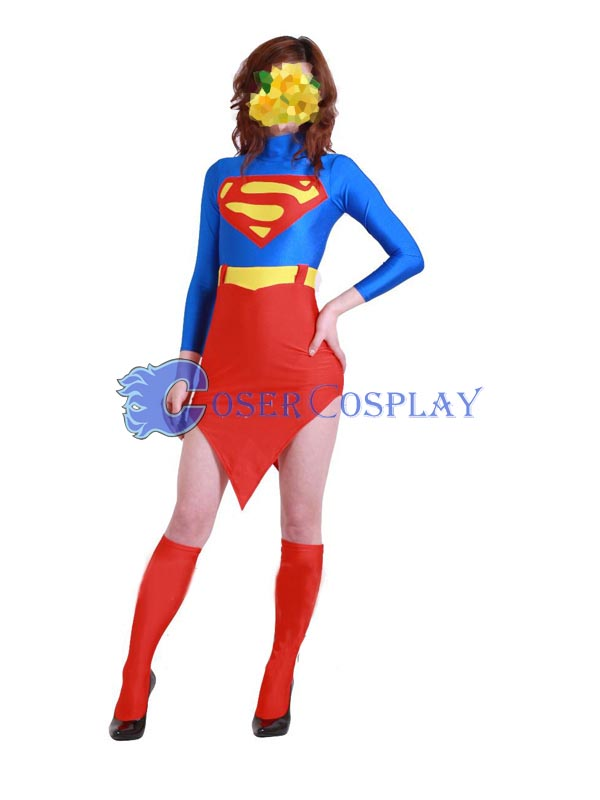 Superman Cosplay Costume Fashion Dress