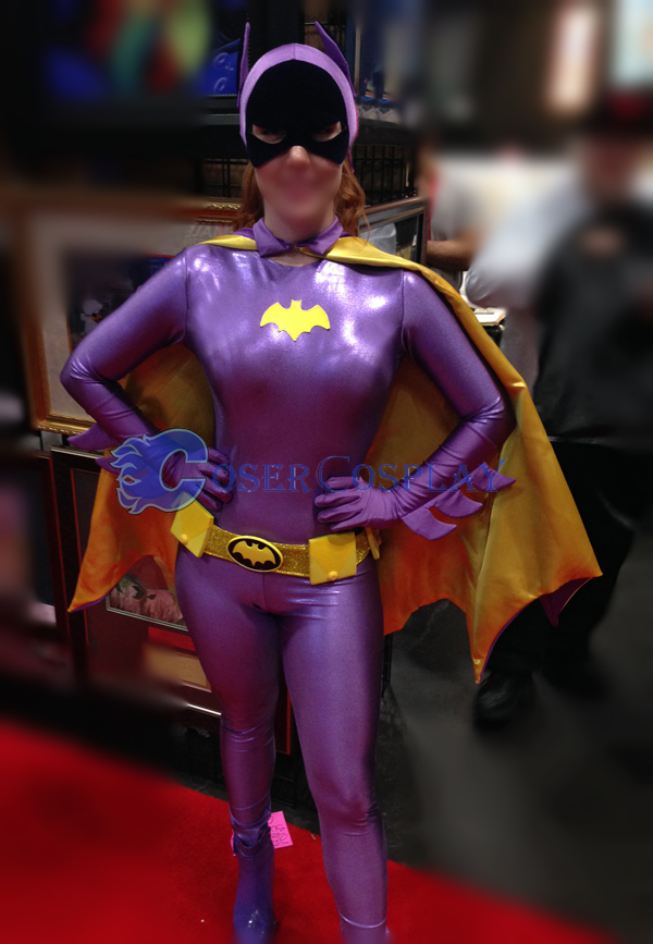Batman Costume Batgirl Shiny Spandex