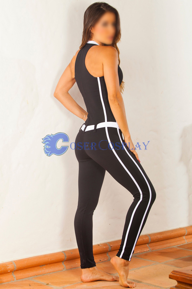Lycra Spandex White Striped Unitard