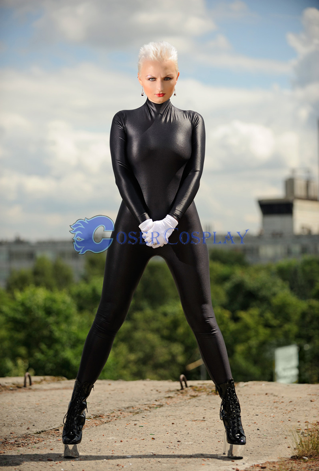 Classic Black Wetlook Catsuit