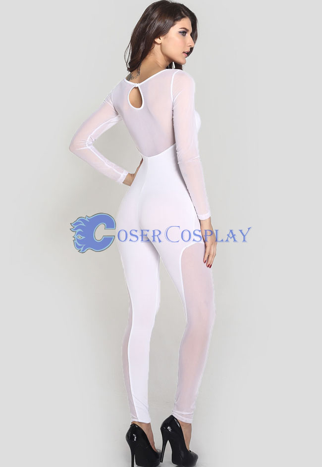 White Night Club Party Catsuit