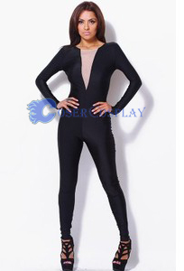 Fashion V-Neck Party Catsuit