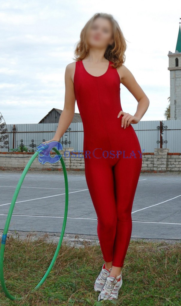 Red Dance Tights Unitard