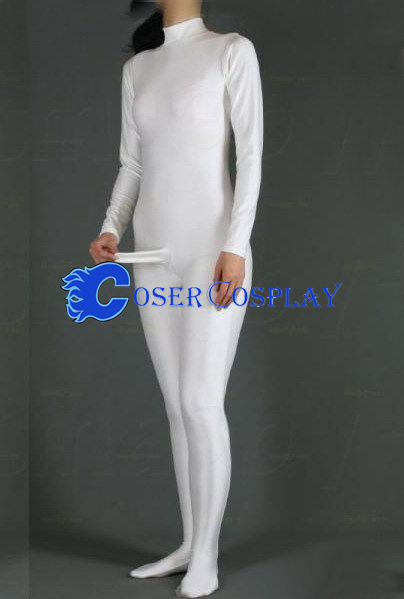 Spandex Costume For Male Catsuit White