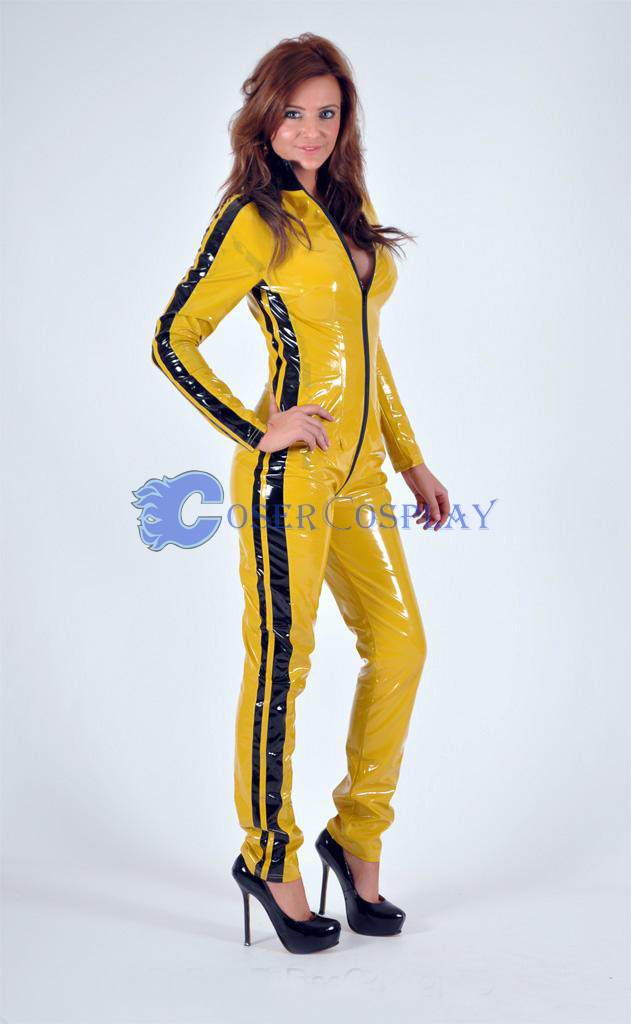 PVC Bruce Lee Costume Catsuit
