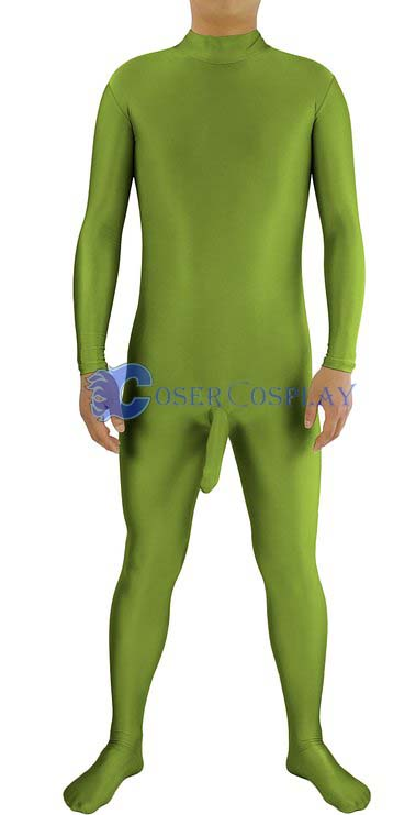 Spandex Costume For Male Catsuit Grass Green