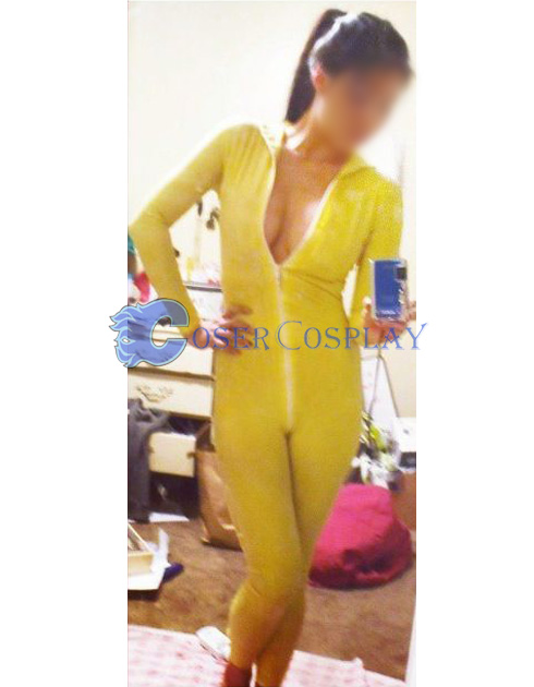 Yellow Lycra Spandex Catsuit