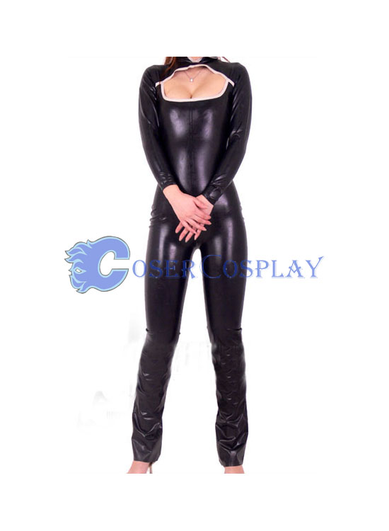 Black Sexy Party Wetlook Catsuit