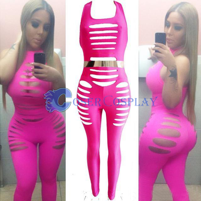 Pink Night Club Tights Unitard