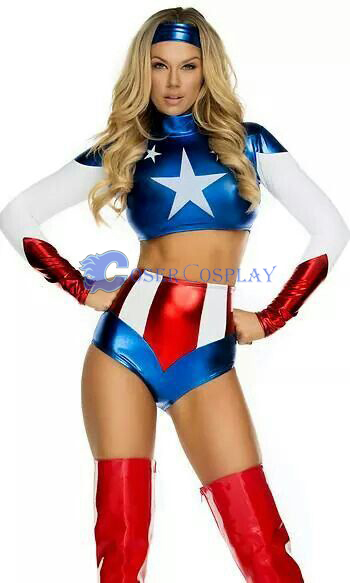 Captain America Sexy Halloween Costumes For Women