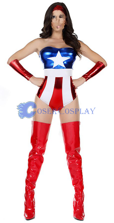 Captain America Sexy Halloween Costumes For Women New