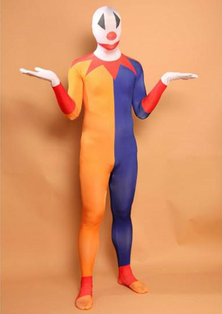Clown Full Body Zentai Morphsuit