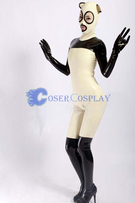 Lycra And Pvc Raccoon Zentai Costume