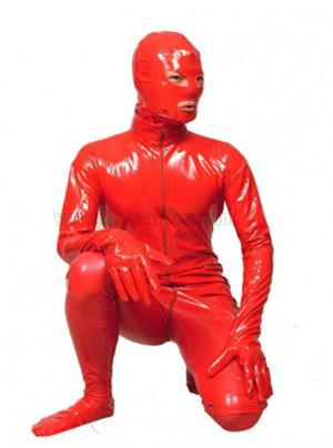 Red Pvc Full Body Zentai Male