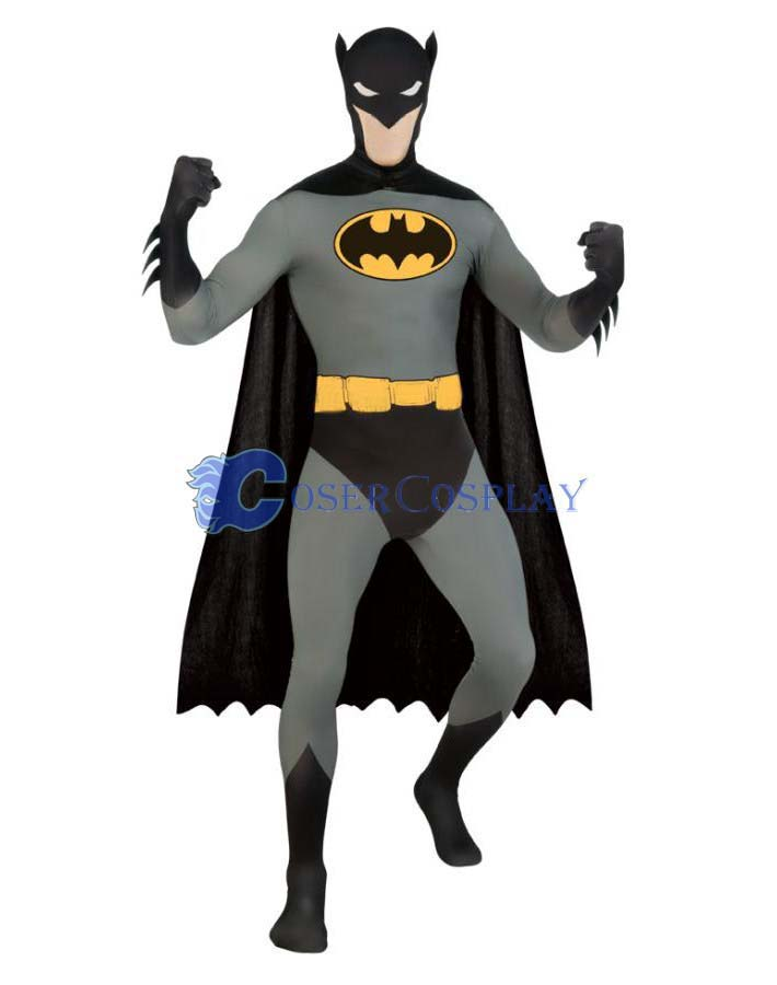 Batman Cosplay Costume With Cape Party Zentai