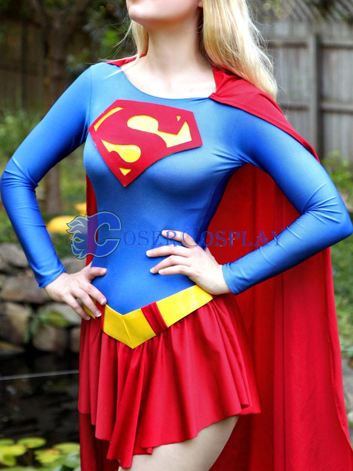 2018 52 Supergirl Cosplay Costume With Cape