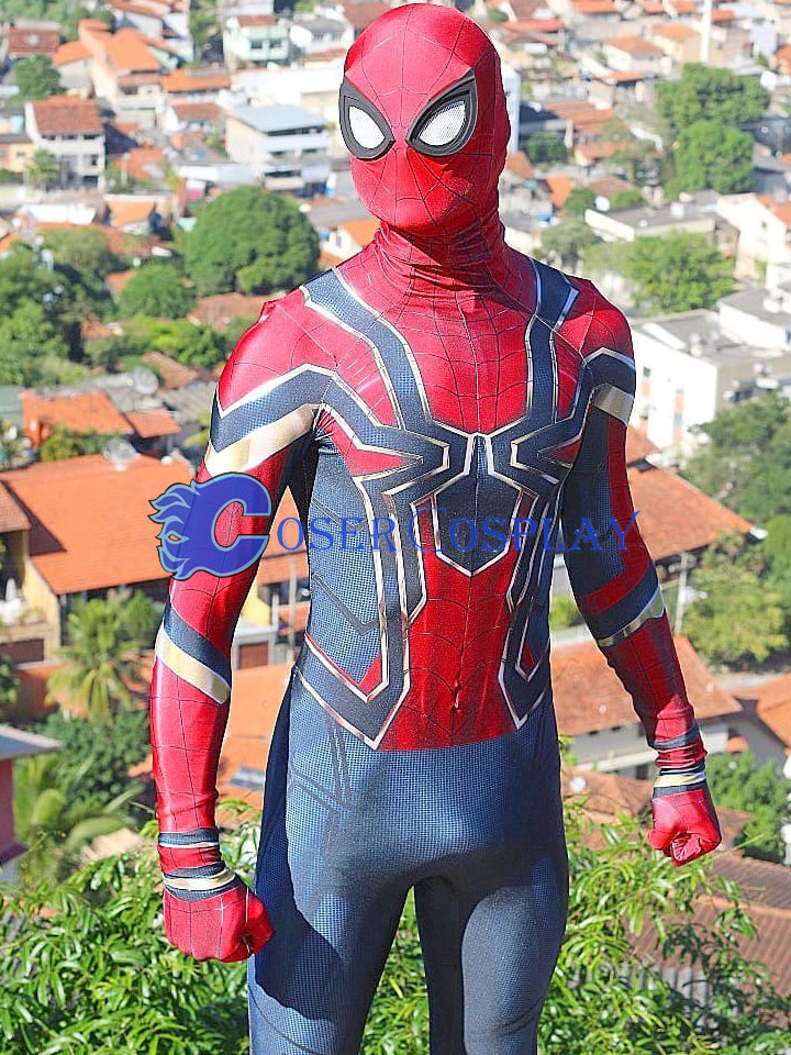 2018 Amazing Iron Spiderman Cosplay Costume