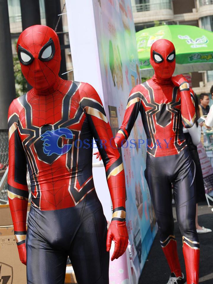 Spider Man Halloween Costume Adults.2018 Amazing Spiderman Adult Halloween Costumes