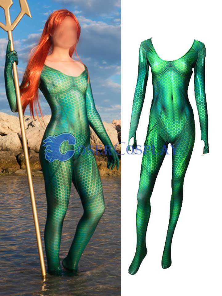 2018 Aquaman Queen Mera Cosplay Costume Sexy