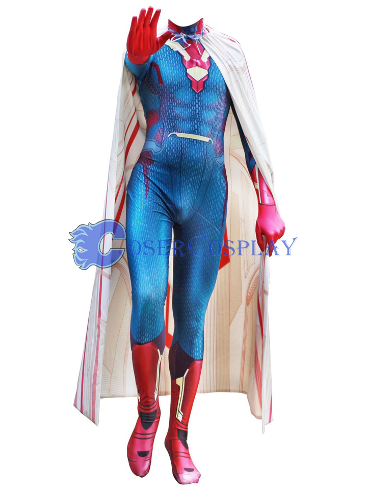 2018 Avengers Vision Superhero Cosplay Costumes