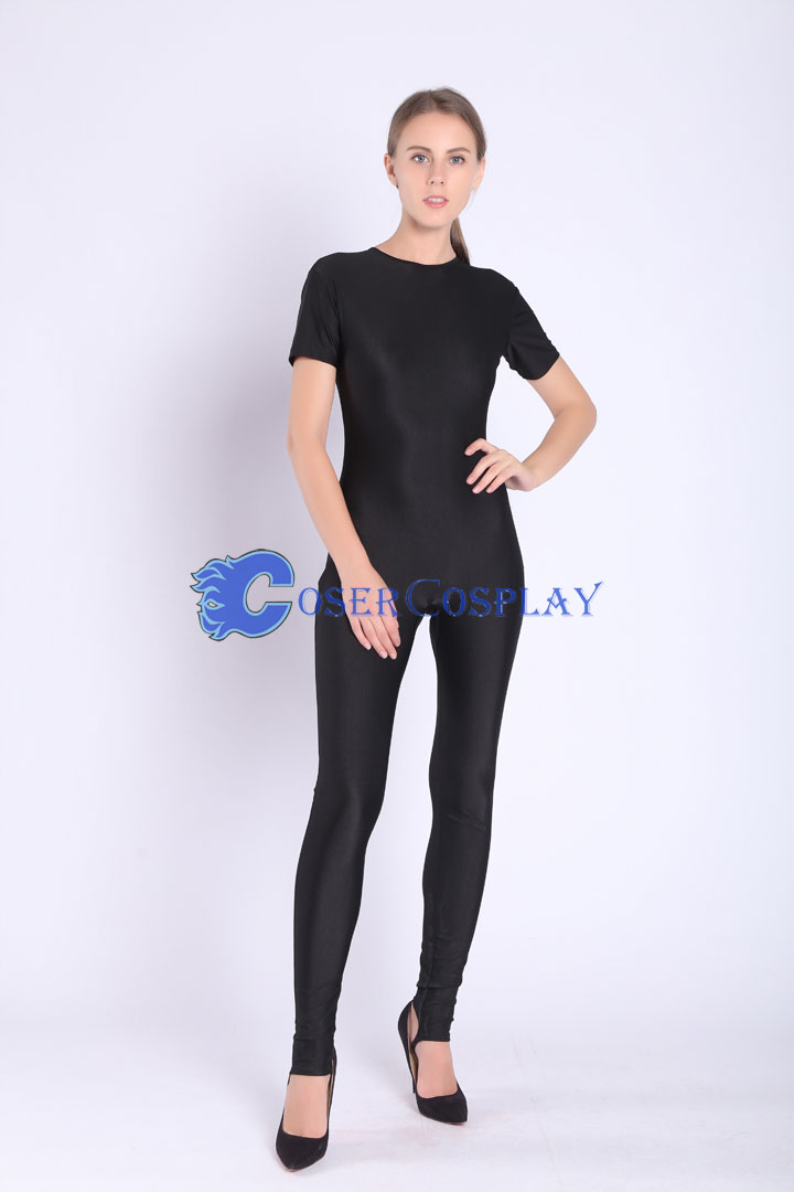 2018 Black Simple Catsuit For Women