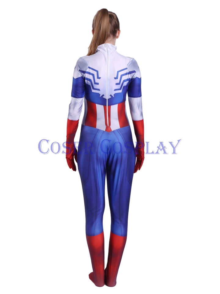 2018 Captain America Peggy Carter Sexy Halloween Costumes 0906