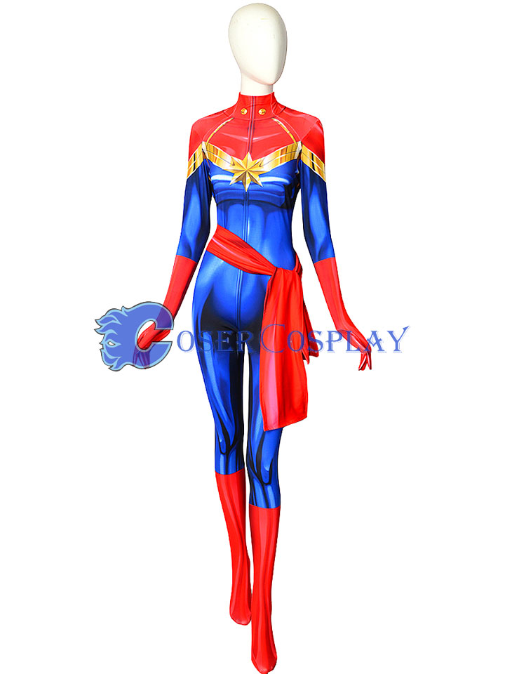 2018 Captain Marvel Carol Danvers Film Cosplay Costume