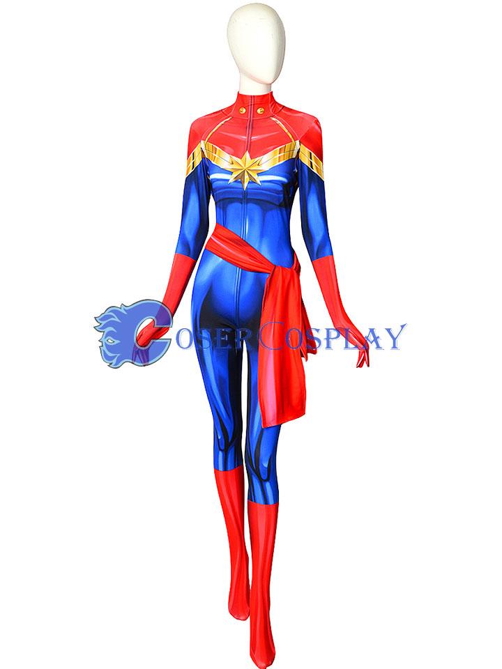 Carol Danvers Cosplay Costume Ms Marvel Captain Marvel Avengers endgame child's captain america costume & mask. carol danvers cosplay costume ms