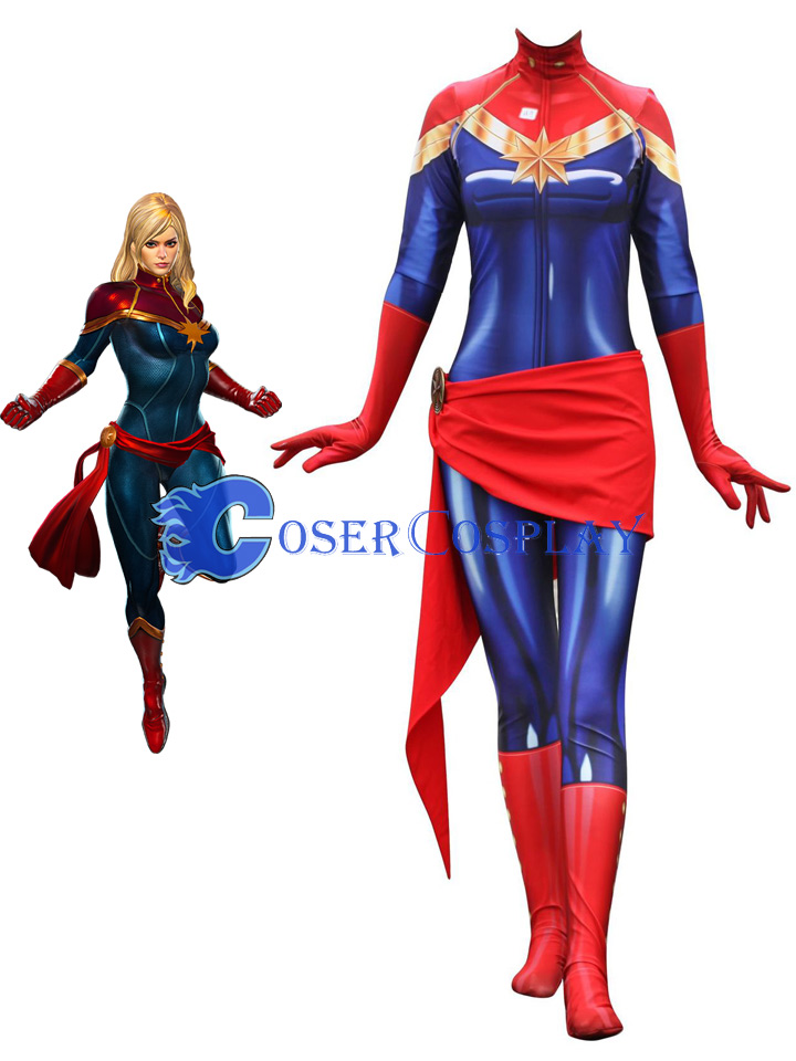 Carol Danvers Cosplay Costume Ms Marvel Captain Marvel The outfit that brie larson wears in captain marvel for her role as captain marvel is a custom made costume for the movie. carol danvers cosplay costume ms
