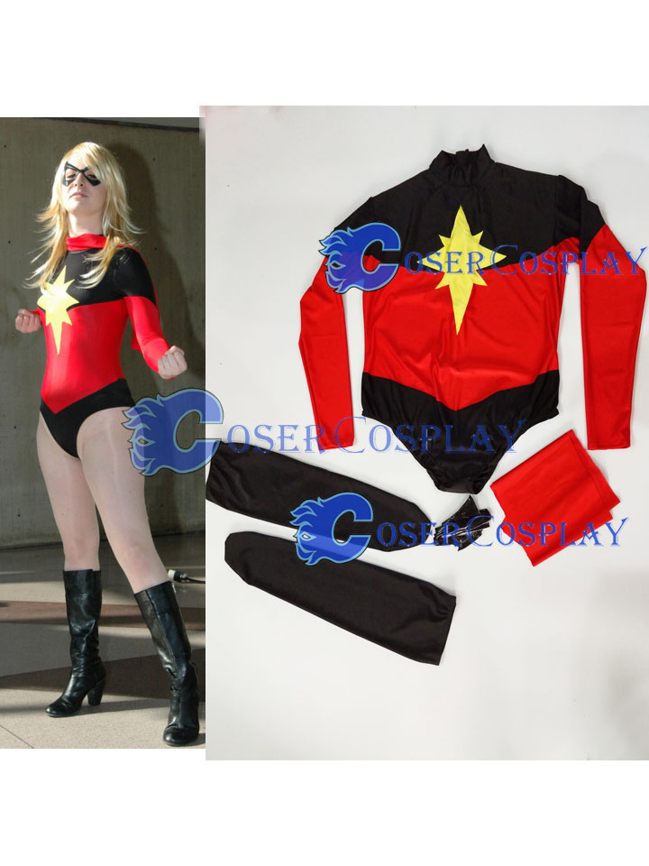 2018 Captain Marvel Cosplay Costume Sexy Catsuit Halloween