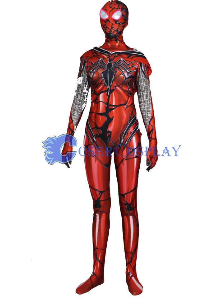 2018 Carnage Gwen Spidergirl Cosplay Costume Red