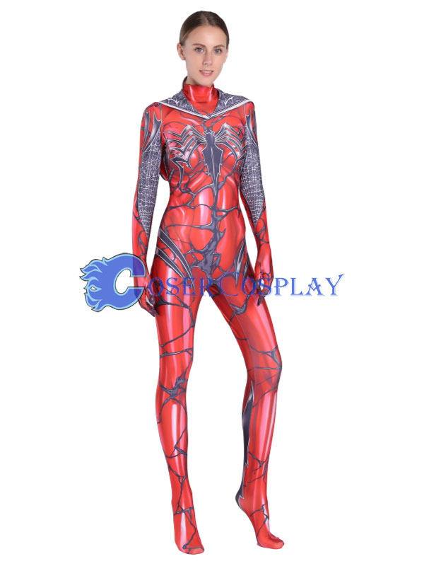 2018 Carnage Gwen Spidergirl Sexy Cosplay Costume