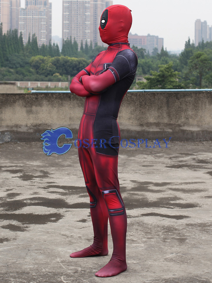 2018 Deadpool 2 Full Body Zentai Superhero Costume