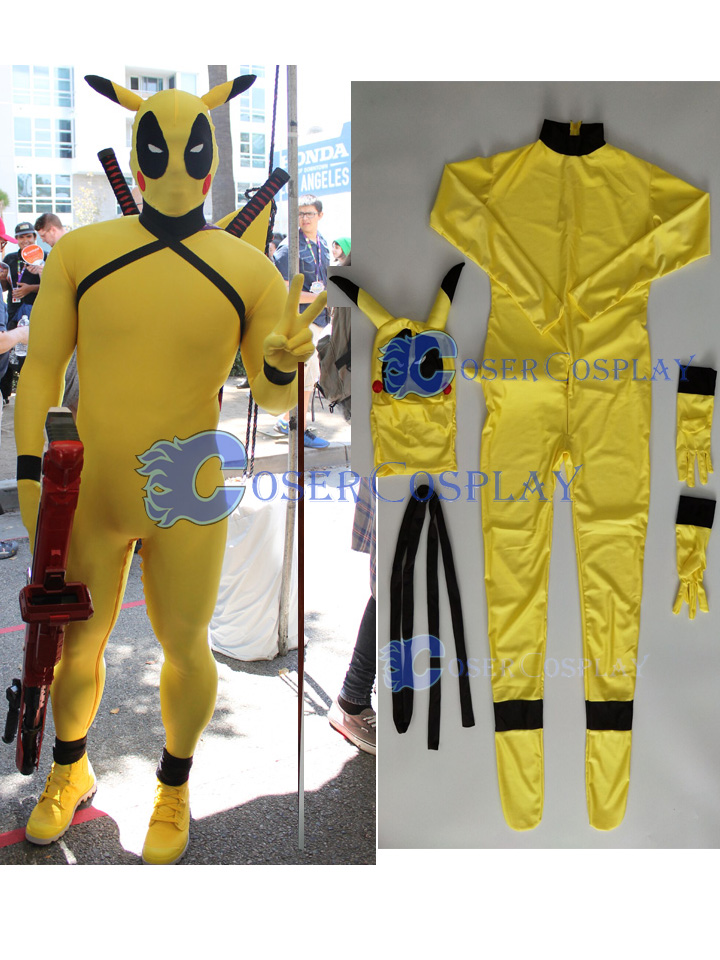 2018 Deadpool Pikachu Kids Halloween Costume