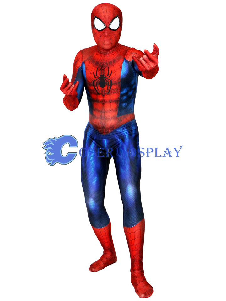 2018 Discount Muscle Shiny Spiderman Zentai Halloween