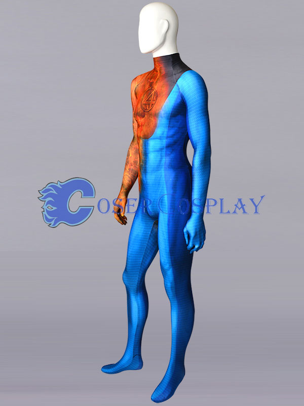 2018 Fantastic Four Human Torch catsuit Costume