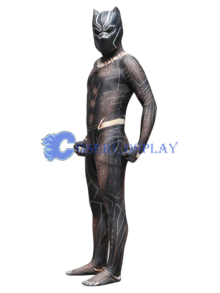 2018 Golden Jaguar Black Panther Cosplay Costume Cosercosplay Com