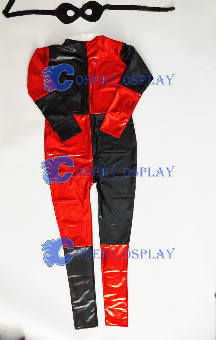 2018 Harley Quinn Sexy Wetlook Catsuit Halloween