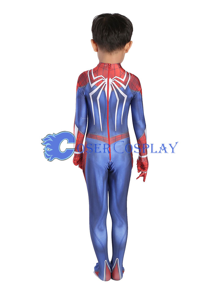 2018 Insomniac PS4 Spiderman Kids Halloween Costume