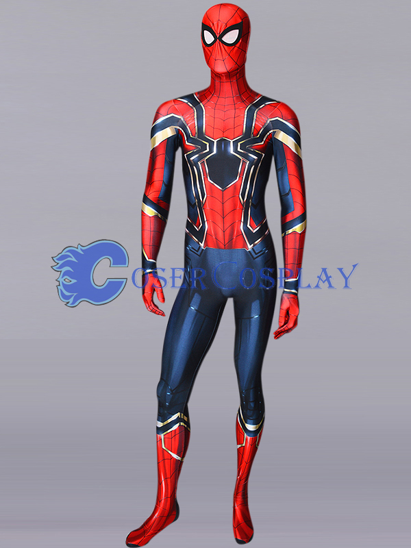 2018 Iron Spiderman Cosplay Costume Zentai