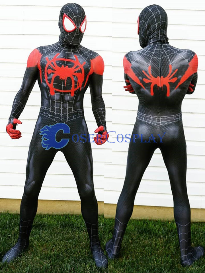 2018 Miles Morales Spider Man Cosplay Costume