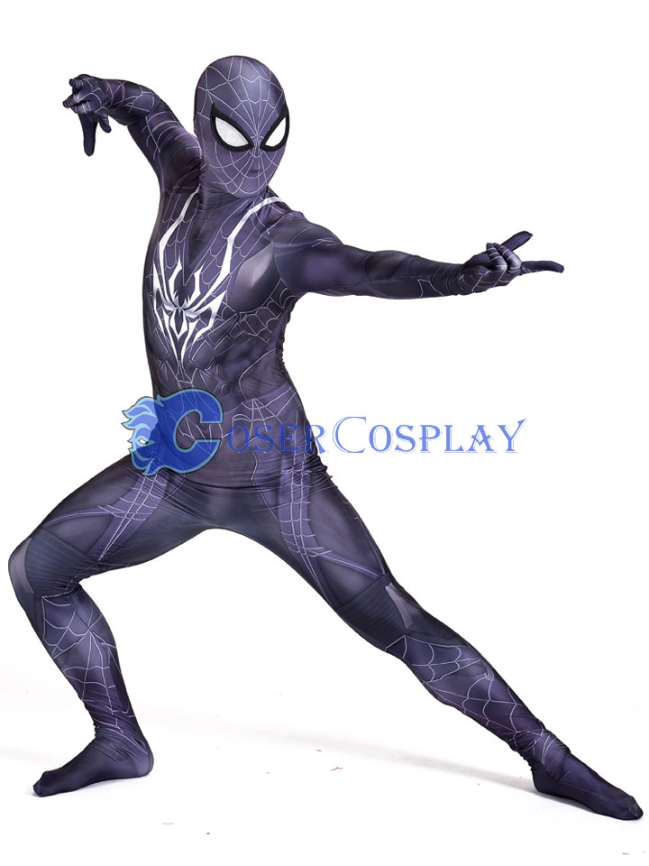 2018 New Design Black Spiderman Cosplay Costume
