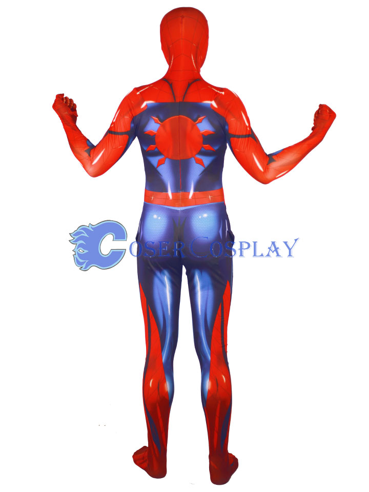 2018 New Muscle Shiny Spiderman Zentai Halloween Costumes