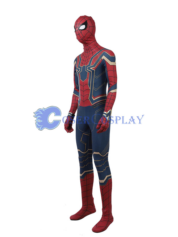 2018 Quality Spiderman Cosplay Costume Halloween