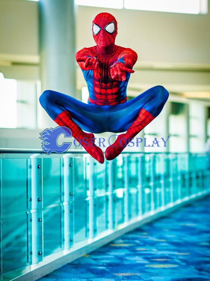 2018 Shiny Spiderman Cosplay Costume New Design