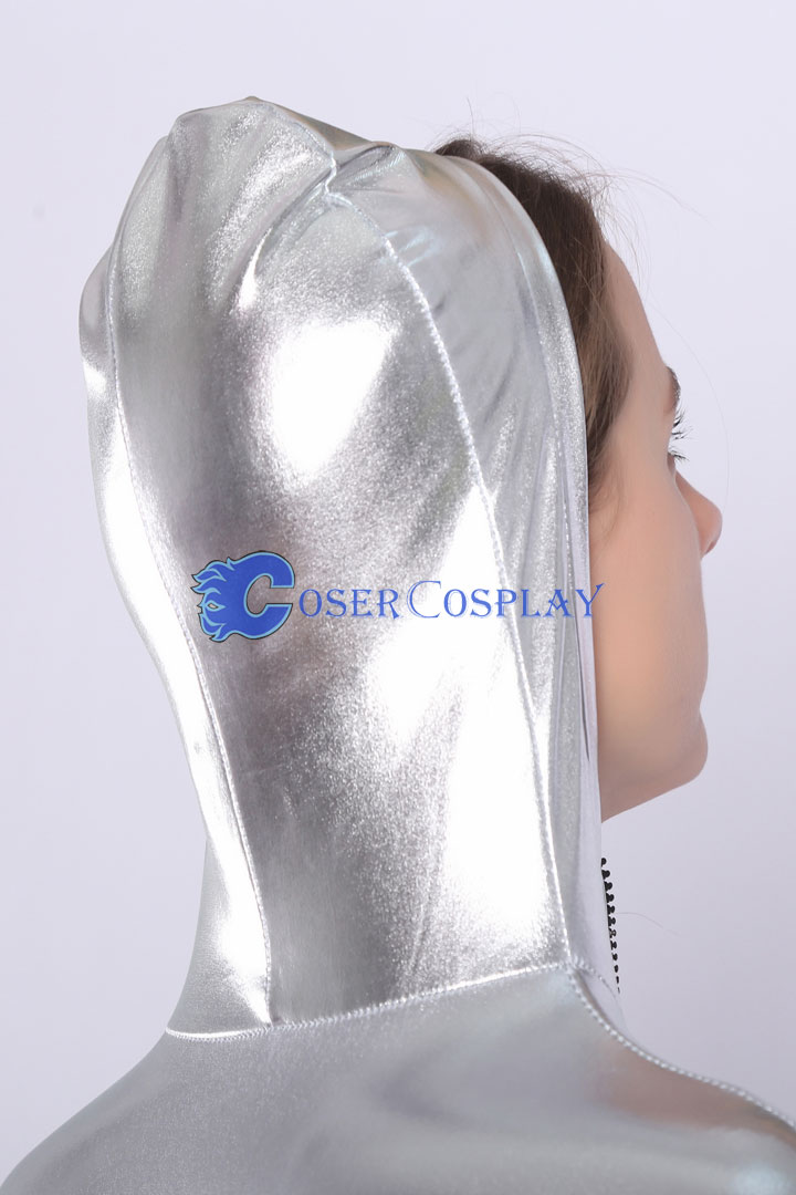 2018 Silver Catsuit  Hoodie Front Zipper