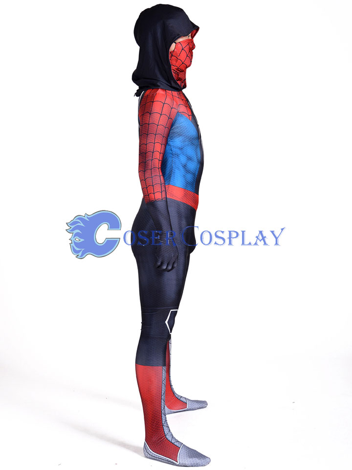 2018 Spiderman Cosplay Costume Conjoined Cap