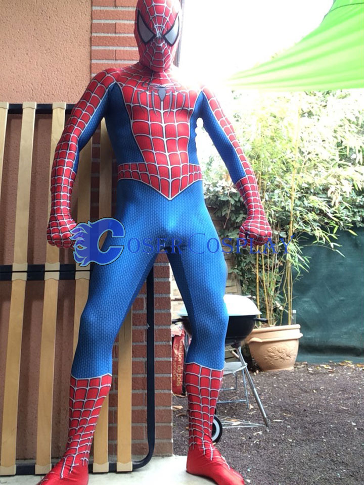 2018 Spiderman Full Body Zentai Movie Costume
